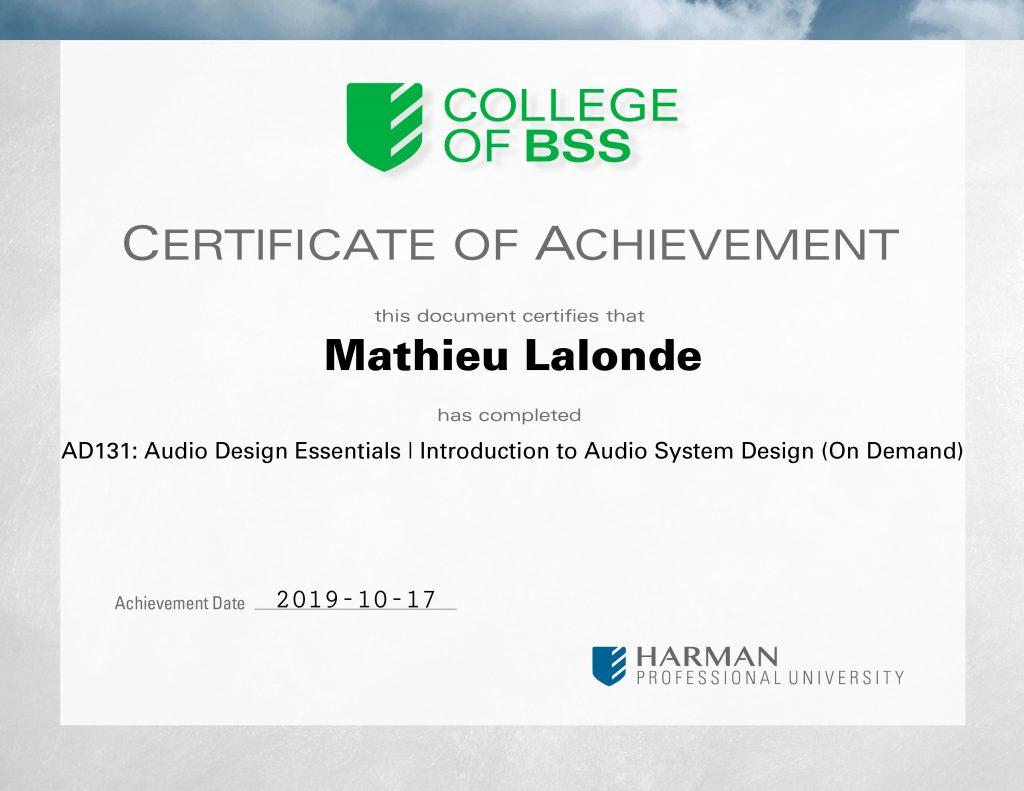 AD131: Audio Design Essentials | Introduction to Audio System Design (On Demand)