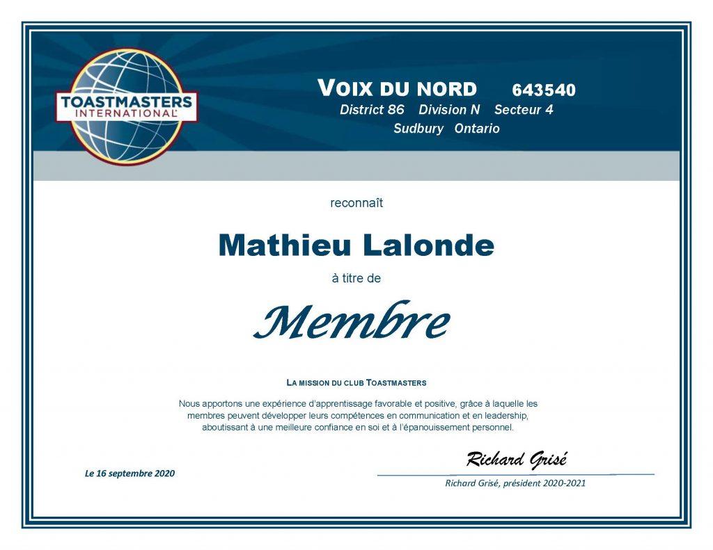 Certificat_nouveau-membre-Club-Tosmaster-Voix Du Nord Mathieu-Lalonde-2020.jpg